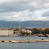 View of Split's port from the Windstar