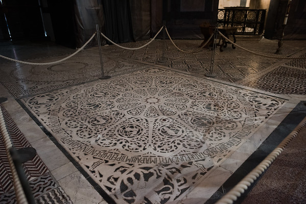 Floor of the baptistry