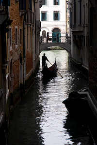 A small canal in Venice (Italy)