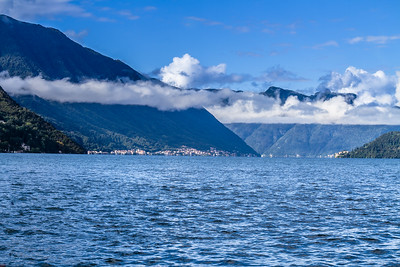 The Mountains Along Lake Como