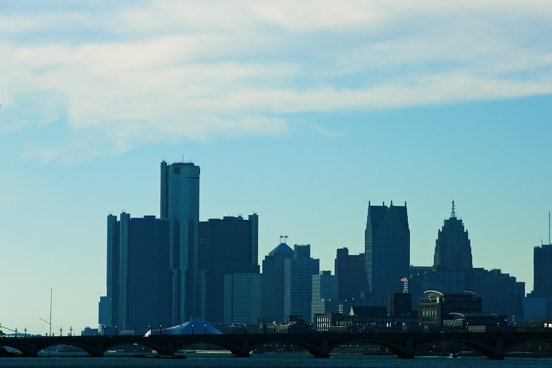 Detroit, across the Belle Isle Bridge