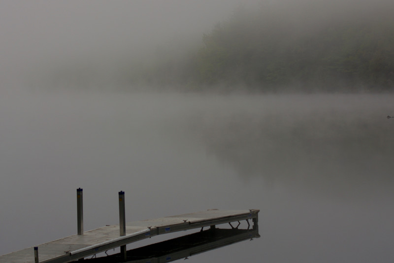misty morning ~ Hancock Pond, Maine ~ flew to Maine to visit with Sister Carolyn Van Cise  and friends ~ June 2015