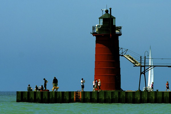 on the pier ~ Lake Michigan