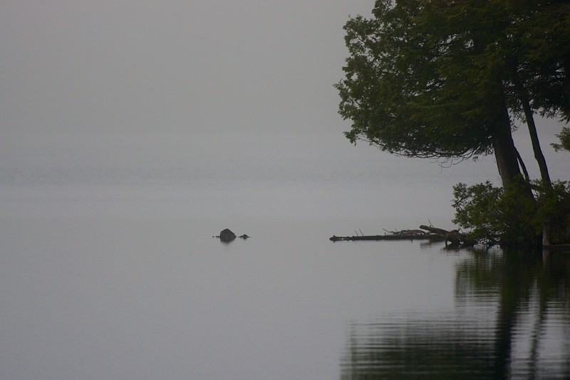 misty evening ~ Hancock Pond, Maine