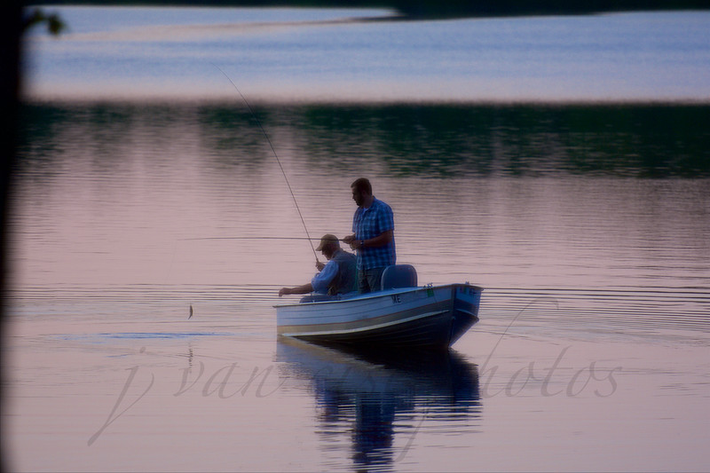 fishing ~ Hancock Pond, Maine