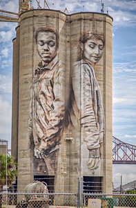 Silo Murals from Commordores Pt Area - -1