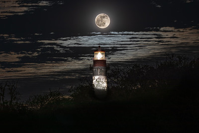 Moon w St Augustine Lighthouse Nov --2