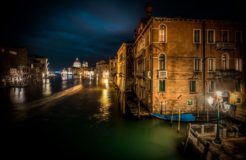 Night view from Accademia Bridge
