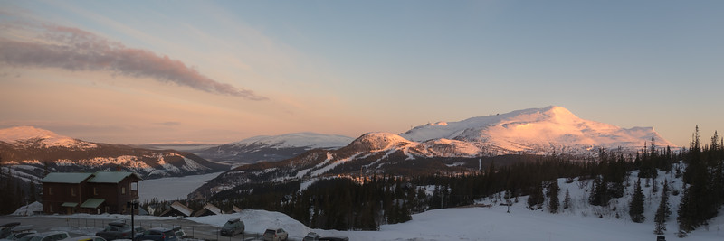 Morning View of Åre Skisport Resort