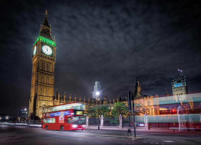 Busses and Big Ben