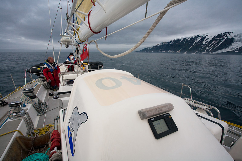 The Polar Bear on the approach to Jan Mayen