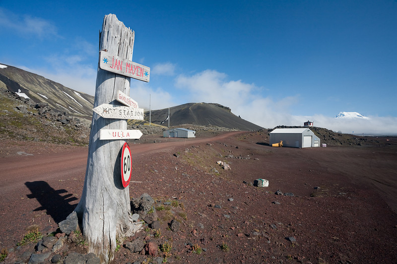 Part of the Norwegian base on Jan Mayen.