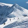 Climbing group near the main summit of Beerenberg, Jan Mayen