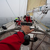 """At the helm"" on the return voyage"