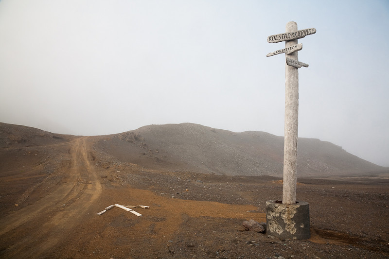 The crossroads, Jan Mayen