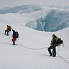 Ascending the summit ridge of Beerenberg, Jan Mayen