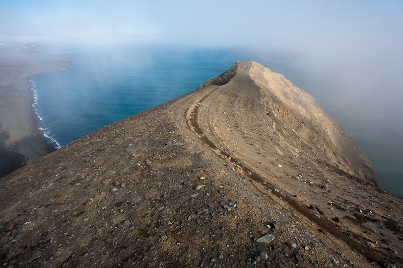 The crater rim of Eggoya, Jan Mayen
