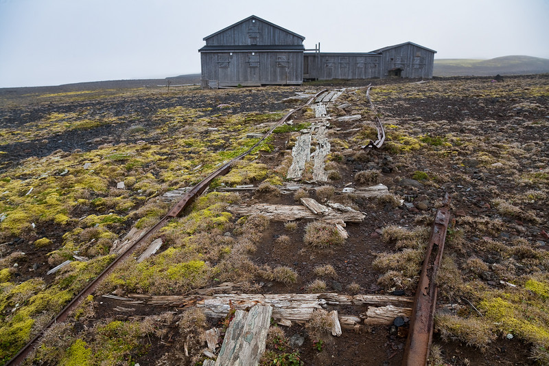 Gamlemetten, the old Norwegian meteorological station, Jan Mayen