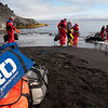 Loading the zodiacs for the return voyage from Jan Mayen.