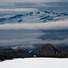 The summits of the southern half of Jan Mayen as seen from High Camp. Jan Mayen