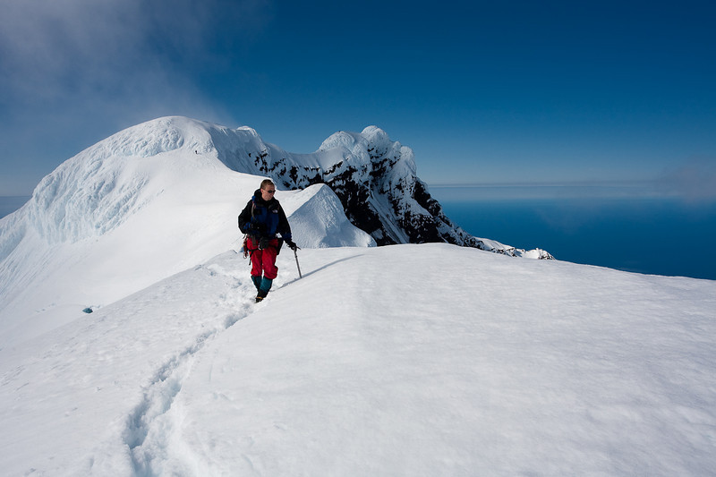 Markus returning from the summit of Beerenberg, Jan Mayen