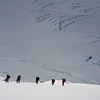 Climbers on Beerenberg, Jan Mayen