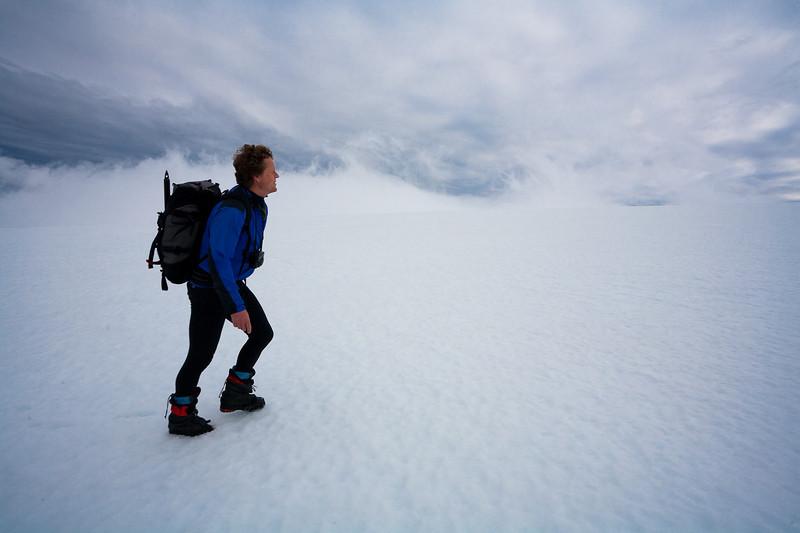 Atle on the ascent of Beerenberg, Jan Mayen