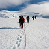 Climbing towards the summit of Beerenberg, Jan Mayen