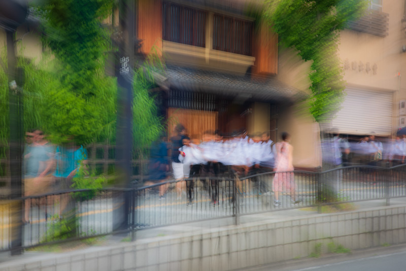 School kids, Kyoto, japan. Abstract