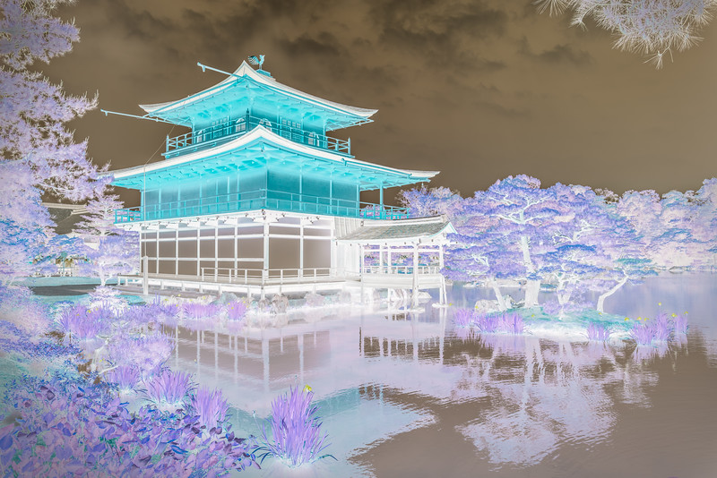 Golden Temple, Kyoto, Japan. Abstract