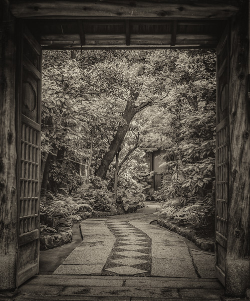 Private Gate, Kyoto, Japan