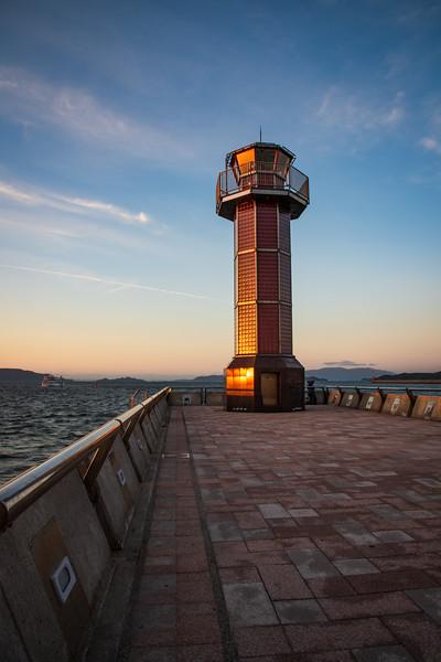 Lighthouse at Tamanochiku, Takamatsu, Japan