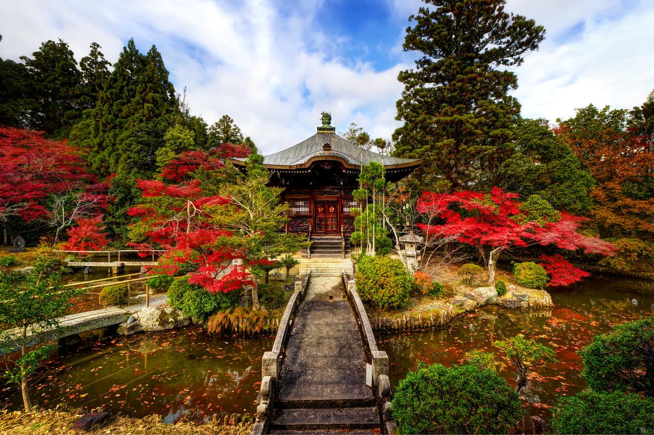 清涼寺の弁天堂 - The Tower of Benten at Seiryo Temple