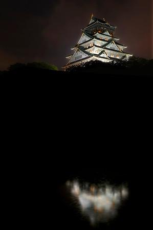 Summer Storm at Osaka Castle