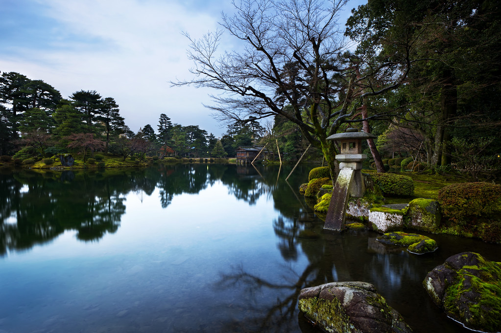 Kenroku Garden and the First Blue Hour