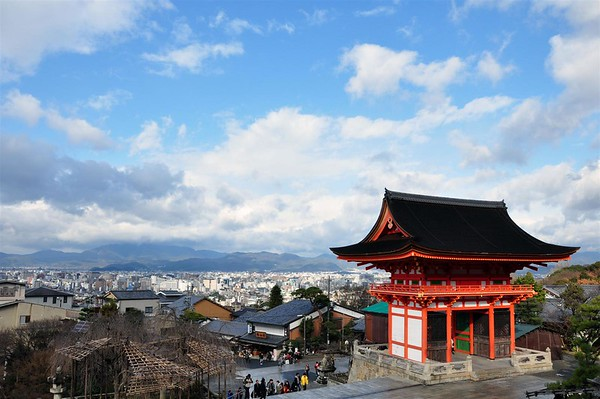 View of Kyoto from The Kiyomizu-dera Temple