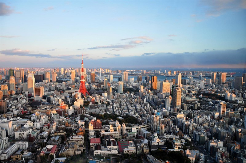 Breathtaking view from the Tokyo City View on the 52nd floor of Mori Tower!!