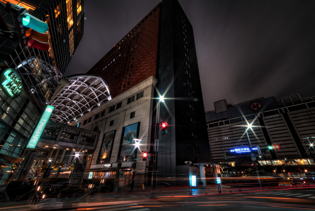 Tenjin at Night