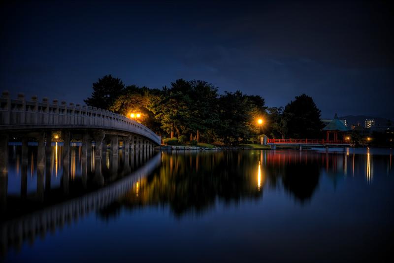 Ohori Koen after Sunset