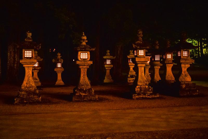 Vieilles lanternes, Koyasan