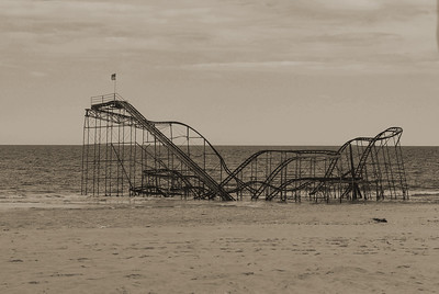 Seaside Heights after Hurricane Sandy