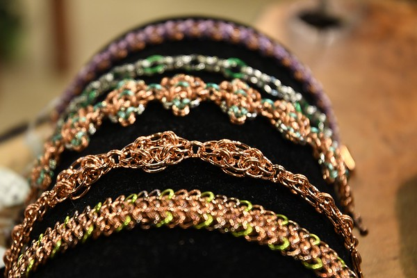 Copper Chainmail Bracelets