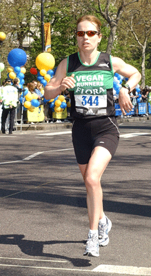 The awesome Vegan Runner Fiona Oakes comes 22nd in the London Marathon. Fiona also runs the wonderful Tower Hill Stables Animal Sanctuary, managing to look after about 1,000,000 animals as well as running a similar number of miles weekly.