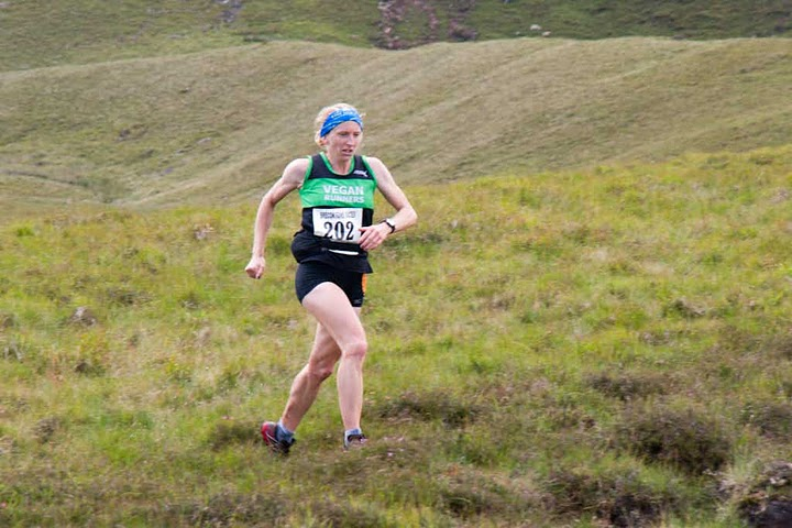 This is the awesome Helen Fines, who also saves animals (as an emergency veterinarian) when  not trying to kill herself (or more likely, her competitors) fell-running in Snowdonia, Wales. Here she is winning the open women's category - for the 3rd time - at Snowdonia's Pen y Fan race in 2011: 3.5 miles of seriously rough terrain, including 2,000 feet of ascent.