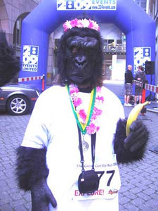 Despite an extensive, dedicated training regime of vegan cake and chocolate, somehow they finished last out of 750 gorillas! At least there were bananas at the finish - unfortunately, not chocolate-flavoured.