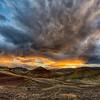 Wild Sunset at Painted Hills, Oregon, 19-September-2021