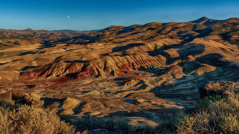 Sunset and Moonrise at Painted Ridge, 16-September-2021