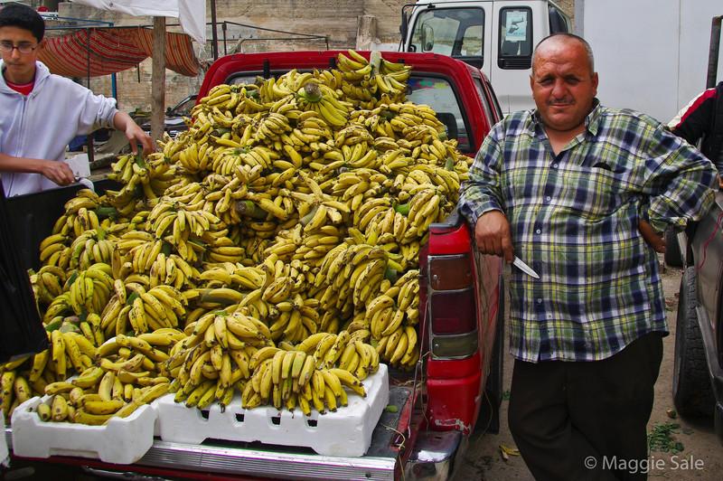 Banana seller at Ajlun Market