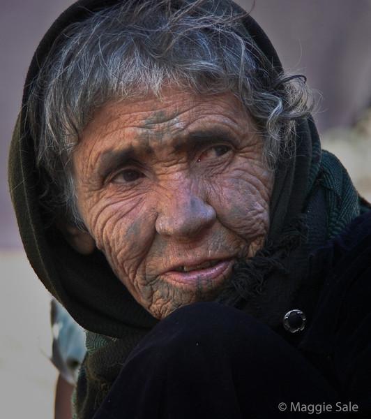 Dana Nature Reserve - bedouin grandmother