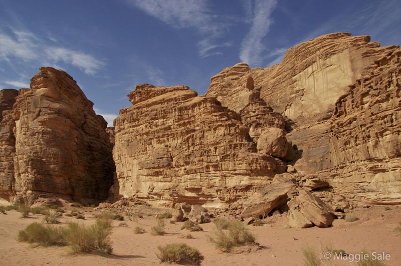 Wadi Rum - desert mountains